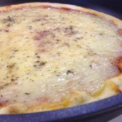 Pizza 4 Quesos en la Sartén.
